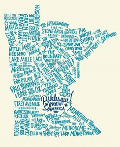 i want the shirt with this design... cool tattoo idea perhaps? kinda funny how some of the places and people are in the exact opposite place of where they actually are like Lake Superior in the bottom left corner.