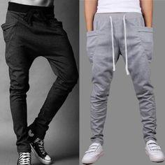 Mens-Skinny-TRACK-PANTS-Slim-Cuff-Trousers-Gym-Slacks-Plain-Sport-Tracksuit-Pant