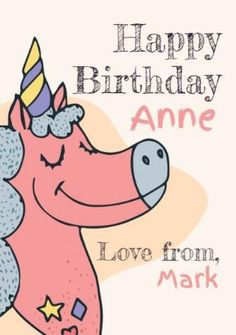 A colorful birthday card with a bright background, cute unicorn illustration, and simple text. Unicorn Cards, Unicorn Illustration, Colorful Birthday, Bright Background, Cute Unicorn, Happy Birthday Cards, Templates, Simple, Happy Birthday Greeting Cards