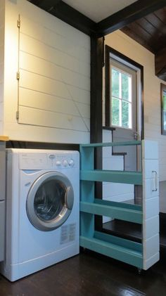 Combo W/D Laundry Area in the 36 North 8x30 by Brevard Tiny House Company
