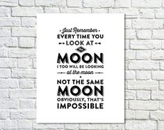 BUY 2 GET 1 FREE Typography Print,Tv Quote,White Black,Andy Dwyer,Quote,Valentines Day,Love Poster, Moon Quote, ParksandRec Quote,Type Poste