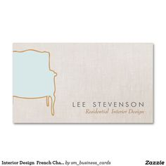 Shop Interior Design French Chair Business Card created by sm_business_cards. Residential Interior Design, Shop Interior Design, French Chairs, Business Cards, Business Ideas, Things To Come, Prints, Bouquet, Flowers