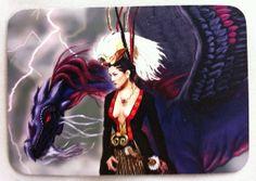 Art magnet Princess Redbird Dragon Warrior Queen by DaraGallery, $8.00