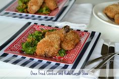 Oven Fried Chicken and Kale-Carrot Slaw on SimplySugarAndGlutenFree.com
