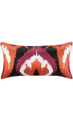 Nanette Lepore Ikat Embroidered Pillow Best Price