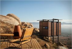 Hotel Endemico in Baja California. An eco friendly retreat perched high on hills. Design by Gracia Studio.