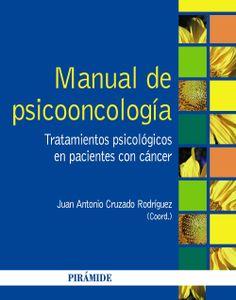 La psicooncología, es decir, la aplicación y la investigación psicológica del cáncer, se inició en nuestro país hace unos treinta años y ha alcanzado un notable desarrollo.Este libro tiene como objetivos, en primer lugar, enseñar cómo llevar a cabo la exploración y evaluación psicológica clínica y determinar las necesidades .. http://www.edicionespiramide.es/libro.php?id=3568605 http://rabel.jcyl.es/cgi-bin/abnetopac?SUBC=BPSO&ACC=DOSEARCH&xsqf99=1738114+
