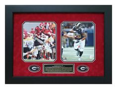 Todd Gurley Georgia Bulldogs Autographed - 8x10 Picture Framed with St. Louis Rams Photo