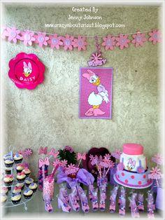 Crazy About Cricut: Daisy Duck Baby Shower