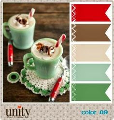 09 Unity Stamp Company Challenge  using Jadite Mugs for inspiration. Note how well the colors go together!
