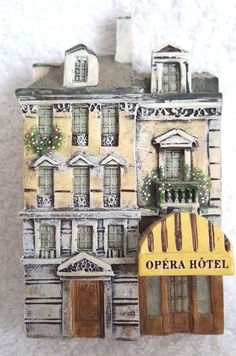 Dominique Gault Miniature Building Opera Hotel # 210166 Hand painted France