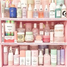 Skincare & self-care shelfie goals! Lip Care, Body Care, Dream Mask, Babe, Makeup Storage Organization, Beauty And The Best, No Bad Days, Shelfie, Girly Things