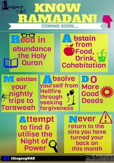 Know Ramadan ♥ ~Amatullah Fasting Ramadan, Islam Ramadan, Ramadan Tips, Ramadan 2016, Happy Eid Mubarak, Ramadan Mubarak, Ramadan Is Coming, Preparing For Ramadan, Islamic Page