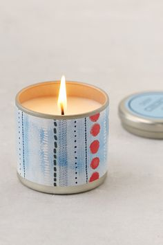 Printed Tin Candle