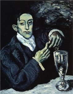 The Absinthe Drinker (Portrait of Angel Fernandez de Soto) - Pablo Picasso 1903