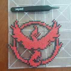 Pokemon Go - Team Valor mini perler beads by the_nerdy_girl_crafter