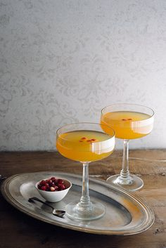 What goes into a Long Kiss Goodnight, you ask? Bourbon, blood orange juice, and a few secret ingredients you'll have to read the recipe to find out. (Plus romance.)