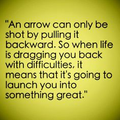 Life is an arrow