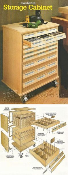 Hardware Storage Cabinet Plans - Workshop Solutions Projects, Tips and Tricks | WoodArchivist.com (Try Tip)