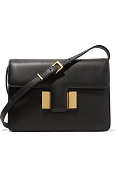 Black leather (Calf) Push lock-fastening front flap Comes with dust bag Weighs approximately 2.2lbs/ 1kg  Made in Italy