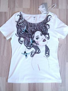 hand-painted t-shirt