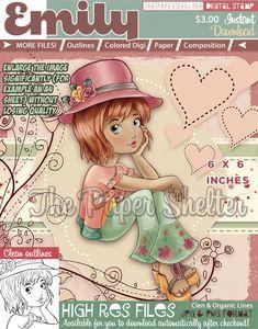 Emily - Digital Stamp