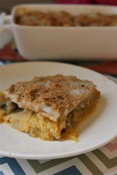 { Recette }  Lasagnes au potiron & aux deux champignons