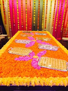 Emirati wedding in #desistyle #floral #design #colorful #interiors what's a wedding without sweets 🍭