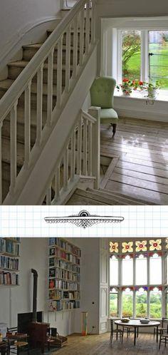 My favorite look -- white plaster walls with wood flooring.