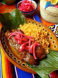 Pork Pibil Riblets - Pina Ribs in the Kitchen - Pibil Pork Riblets - Pork Riblets, Riblets Recipe, Gourmet Recipes, Mexican Food Recipes, Vegetarian Recipes, Healthy Recipes, Hispanic Dishes, Carribean Food, Pork Ribs