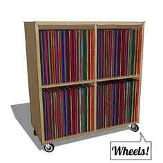 Urbangreen Media LP Record Cabinet - on wheels!