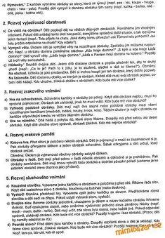 AKTIVITY S DĚTMI - Pracovní listy Kids Education, Preschool Activities, Kindergarten, Classroom, Teacher, How To Plan, Reading, Logos, Children