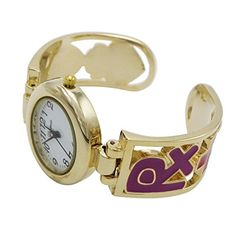 f987176b4d7 Amazon.com: Rosemarie Collections Women's Golden Cuff Bracelet I Love My Nurse  Watch Gift: Jewelry