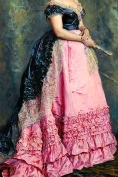 :INCREDIBLE DRESSES IN ART (16/∞)Manuela de Errazu by Raimundo de Madrazo y Garreta , 1875