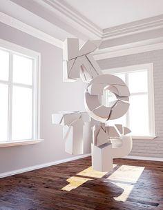 Shattered - 3D Typography Design Modelling