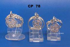 modelo cp78   anillo de pentagrama barroco y liso  y de eslabones dije colgante