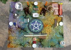 Complete portable pagan altar kit duluxe door TheWitchChandlery