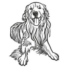 Ace Points Embroidery Design: Dog Outlines 3.82 inches H x 2.96 inches W