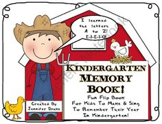 Kindergarten Memory Flip Book ~A Fun Song To Remember The Year~ from Teachers Treasure Chest on TeachersNotebook.com (23 pages)  - As the school year comes to an end, why not provide your students with a fun memory book that they can sing and recall all they did and learned during their year in kindergarten?!