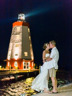 Beautiful photo of the Beautiful Couple on their Special Day at Faro Blanco!