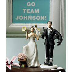 hahaha ... love it!! Cheering Bride Wedding Cake Topper  -Mix and Match