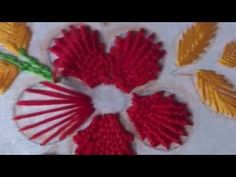 Hand Embroidery Flower Design Kamali Work and Fishbone Stitch by AmmaArts - YouTube