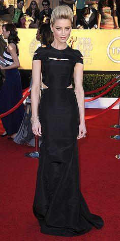 Amber Heard in Zac Posen at the SAG Awards