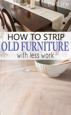 How to strip stain, paint, and varnish off of old furniture. This DIY tutorial is full of shortcuts when refinishing furniture, especially furniture with crevices and details. Furniture Vanity, Paint Furniture, Furniture Projects, Furniture Design, Redoing Furniture, Diy Projects, Furniture Makers, Upcycling Projects, City Furniture