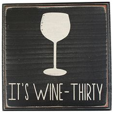 It's Wine Thirty Vintage Wood Sign for Wall Décor Wine Signs, Beer Signs, Vintage Wood Signs, Wooden Signs, Prohibition Wedding, Beer Decorations, Wall Bar, Wall Décor, Wine Decor