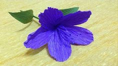 How to Make Eustoma Crepe Paper flowers - Flower Making of Crepe Paper - Paper Flower Tutorial - YouTube