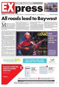 PE Express 20 May 2015 Port Elizabeth, Something Big, May, Newspaper, Singing, Author, Books, Libros, Journaling File System