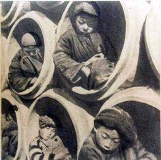 Children living in drainpipes