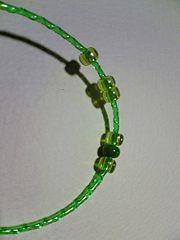 bracelet with a plastic bottle