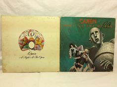 Queen Vinyl Record Lot of 2 - Night at the Opera & News of the World